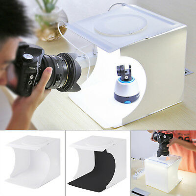 Portable Camera Photo Studio Lighting Box Photography 2 Backdrops LED Ligh Tent