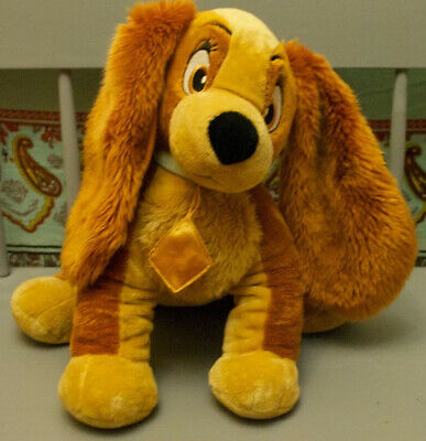 """Genuine Disney Store Exclusive Lady and the Tramp Stuffed Plush Soft Toy Dog 14"""""""