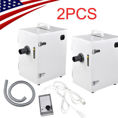 2pcs Dental Digital Single-Row Dust Collector collecting Vacuum Cleaner Machine