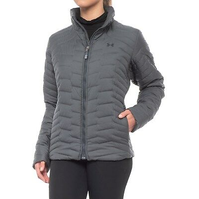 NWT $200 UNDER ARMOUR  womens ColdGear Reactor Jacket Insulated Carbon Heather