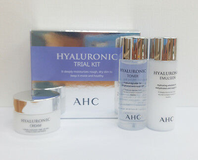 AHC Hyaluronic Trial Kit 3 Items Toner, Emulsion, Cream [Trial size]