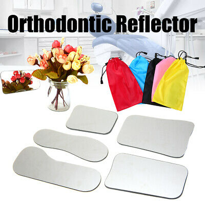5Pcs Dental Intraoral Glass Coated Titanium Photography Mirrors 2-side Reflector