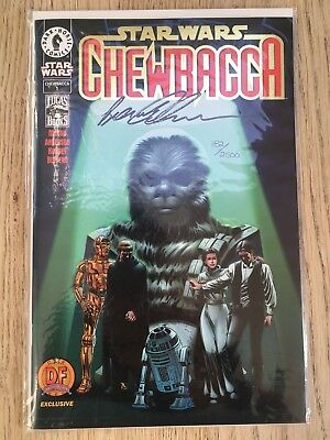 Star Wars: Chewbacca #1 Dynamic Forces Foil Cover Signed By Peter Mayhew