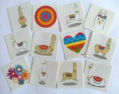 LLAMA Temporary Tattoos Childrens Boys / Girls Party Bag Fillers Choose Quantity