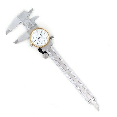 Vernier Dial Caliper 0-6Inch Stainless Steel Micrometer Thickness Gauge with Box