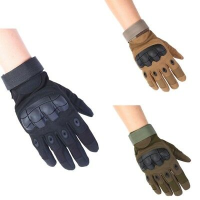 US Touchscreen Full Finger Gloves Military Tactical Outdoor Airsoft Hard Knuckle