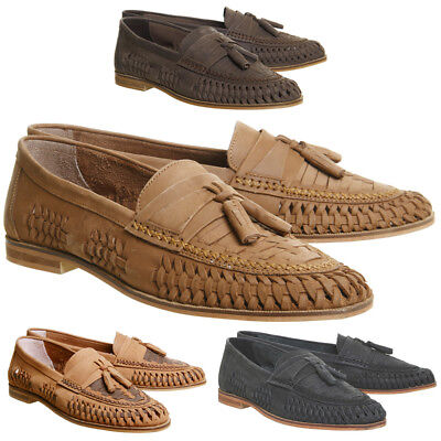 RRP- £65 Mens Leather Boat Smart Formal Summer Office Slip On Loafers Shoes NEW