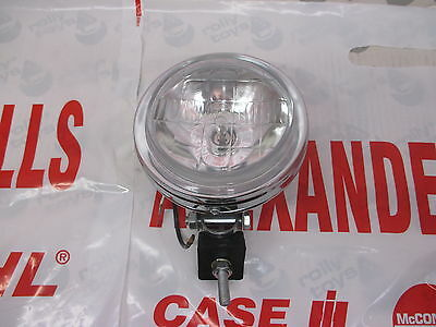 Tractor Chrome Driving Lamp 130mm Case IH Massey John Deere Ford New Holland