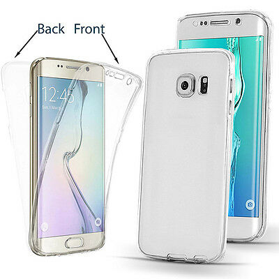 360°Silikon tective Clear Case Cover For Samsung Galaxy S6 S7 S7 Edge S8-S8+