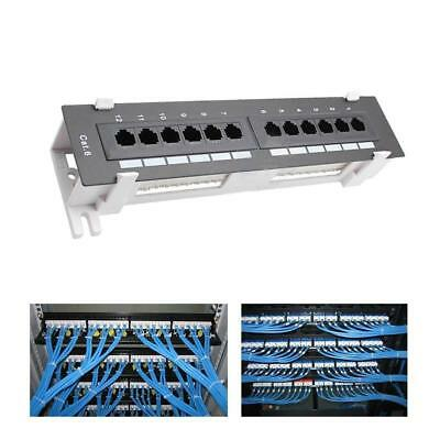 12Port 110 Network Cat6 CAT 5  RJ45 Wall Surface Mount Patch Panel-BracketQ