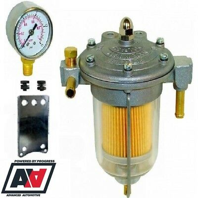 Malpassi Filter King Pressure Regulator 85mm Transparent Bowl With Sytec Gauge