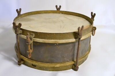 Antique Marching Snare Drum with strap and single stick