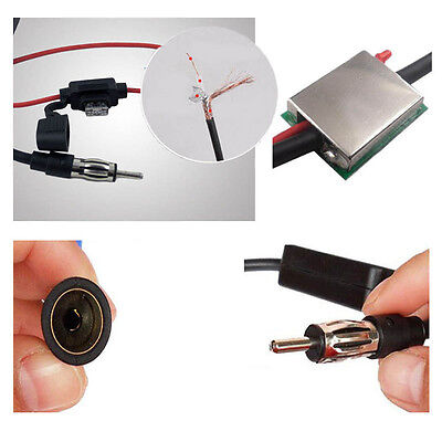 ANT-208 Quality Car Automobile Antenna Radio FM Signal Booster Amplifier Amp NEW