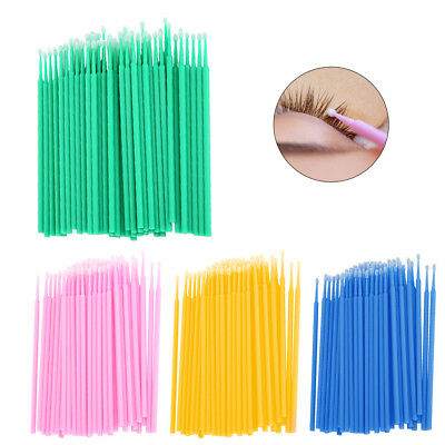 400x Micro Brush Disposable Microbrush Applicator Eyelash Lashes Extension Swabs
