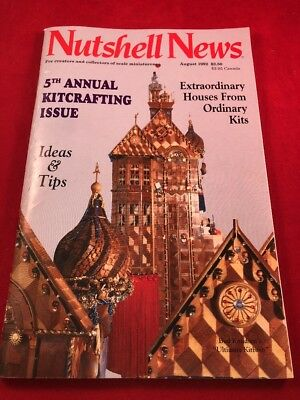 August 1992 Nutshell News 5th Annual Kitcrafting Issue Miniatures Dollhouse
