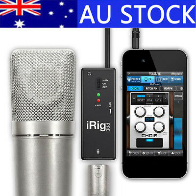 For iPhone/iPod touch/iPad Android Devices IK Multimedia iRig Pre Mic Interface