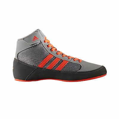 adidas Havoc Kids Junior Wrestling Trainer Shoe Boot Grey/Red