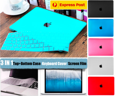 3 IN 1 MacBook Pro 13 Inch A1989 Rubberised Hard Case Keyboard Cover Air A1932