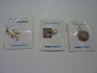 Lot of 3 New Weight Watchers Charms: Summer Sun, Running, & Find Your Adventure