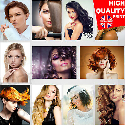 Women Hair Style Posters Hair Beauty Salon Haircut Pictures | A4 A3 A2 |