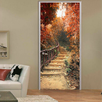Fairy Scenery Maple Trail Door Wall Sticker Mural Wallpaper Picture Home Decor