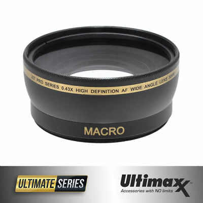 Wide Angle 58mm .45X Lens with Macro for Canon Rebel EOS 18-55mm 75-300mm 55-250