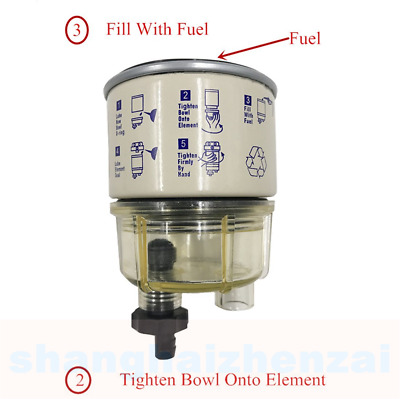 R12T 10 Micron Fuel Filter / Water Separator Replacement Element