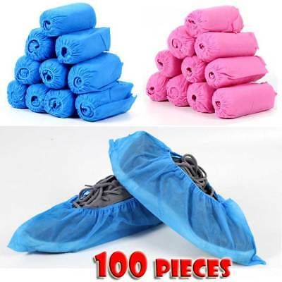 100 Disposable Wearable Anti Skid Durable Non Woven Fabric Non-slip Shoe Covers