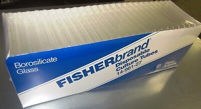 Fisherbrand Disposable Culture Tubes M# 14-961-27 (1 Packs Of 250) New