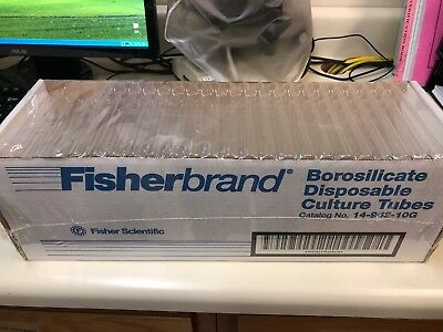 Fisherbrand Disposable Culture Tubes M# 14-962-10G (1 Packs Of 250) New