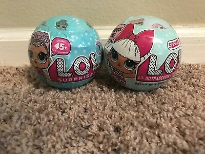 NEW LOL Surprise Doll Ball 2017 Vanilla 7 Layers Of Fun Series 1 Lot Of 2 Set