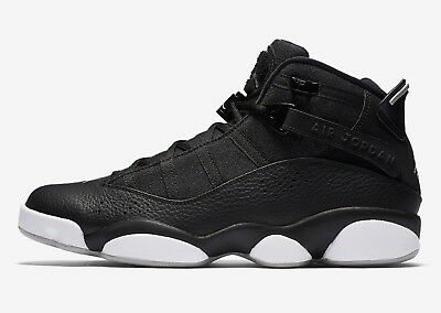 857ad0506d7d NIKE MEN S AIR Jordan 6 RINGS Shoes Black Matte Silver White 322992 ...