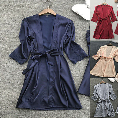 Women Casual Lace Lingerie Nightwear Underwear Robe Babydoll Sleepwear Dress US