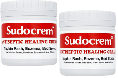 Sudocrem Antiseptic Healing Cream Napkin Rash Eczema and Bed Sore 400g 2 Packs