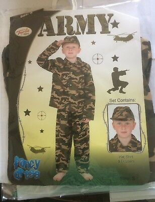"""Toyrific Party Fancy Dress Army Waist13"""" Trousers 28"""" Length  Pit To Pit 15"""""""