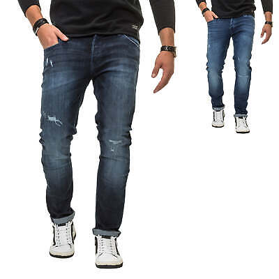 Jack   Jones Herren Jeans Slim Fit Stretch Distressed Denim Herrenhose Hose c51e204454