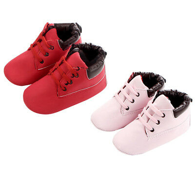 KE_ Infant Toddler Baby Boys Girls Kids Shoes Lace-Up Anti-Slip Flats Boots Mo