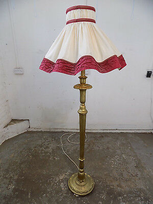 antique,carved,gilt,standard lamp,light,gold,ornate,floor,light,round base,lamp