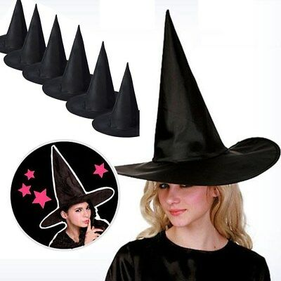 6PCS Adult Women Wicked Sorceress Witch Hat for Halloween Costume Accessory US