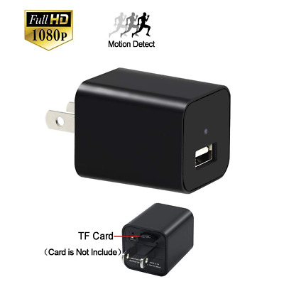 Mini Camera, YYCAMUS 1080P HD Spy charger with Motion Detection Loop Video Recor