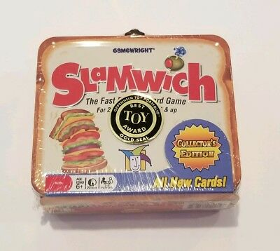 NEW SLAMWICH COLLECTORS Edition Tin The Fast Flipping Card Game Gamewright