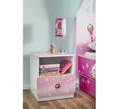 NEW Barbie Dreamtopia Unicorn Bedside Table Pink By Fantastic Furniture
