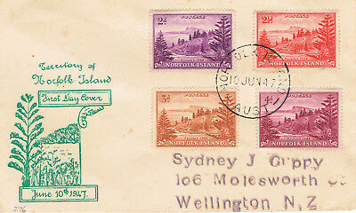Norfolk Island 1947 Ball Bay First Day Cover