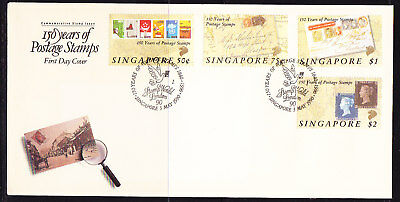 Singapore 1990 Penny Black 150 Years First Day Cover Unaddressed