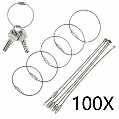 100pcs Stainless Steel Cable Zip Ties Wrap Strap Locking Exhaust