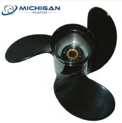 Michigan Match Evinrude Johnson 8-15HP 10 x 7 3 Blade Aluminum Propeller 012112