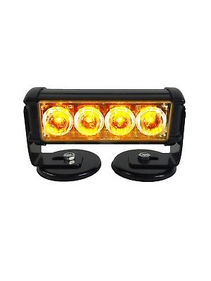 Warningworx LED Amber Orange Magnetic Warning Strobe Light Mini Beacon Portable