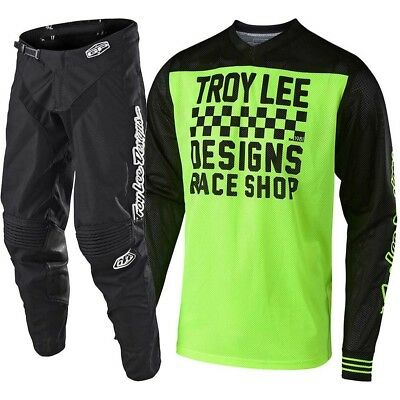 NEW Troy Lee Designs 2019 MX GP Air Raceshop FLO Yellow Black Motocross Gear Set