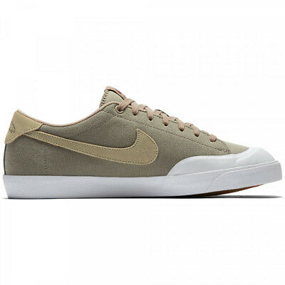 0168d0ca8d676 Nike Men s Zoom All Court Ck Khaki   Mushroom White Canvas Skate Sneakers  11US