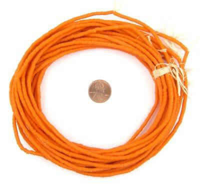 Tangerine Orange Sandcast Seed Beads 3mm 26 Inch Strand